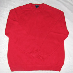 LANDS END mens red pullover sweater XL TALL